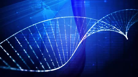 клон : DNA double helix  medical research background Стоковые видеозаписи