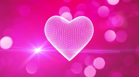 walentynki : St Valentines heart romantic background Wideo