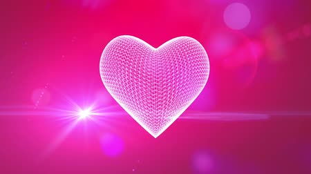 art : St Valentines heart romantic background Wideo