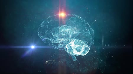 gelişme : Human brain artificial intelligence concept