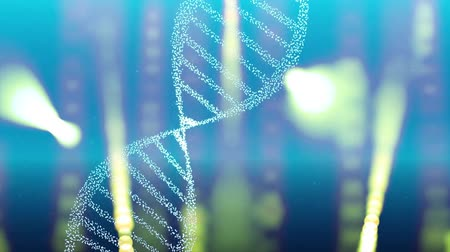 mikroskopický : DNA double helix strand medical background