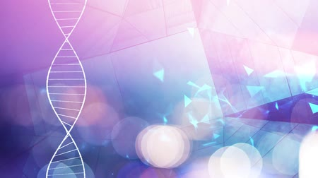 mutation : DNA double helix molecular structure Stock Footage