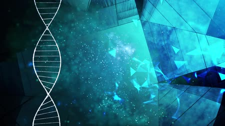 aborígene : DNA double helix molecular structure Stock Footage