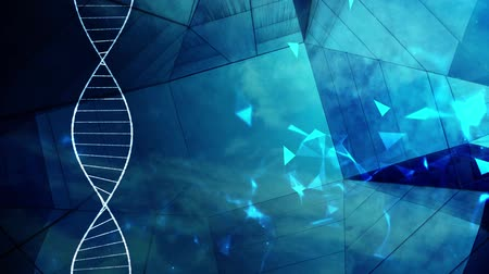 genetic research : DNA double helix molecular structure Stock Footage