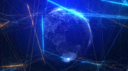 connectivity : Global technology communication network  background Stock Footage