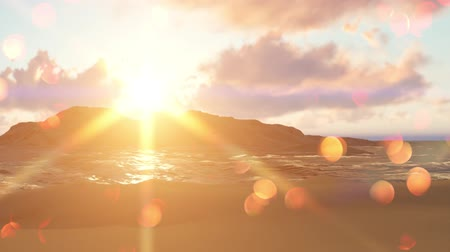 raios de sol : Summer background with sun rays and waves