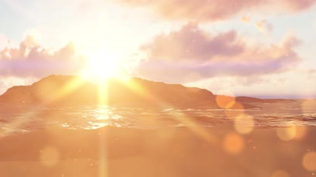 oceány : Summer background with sun rays and waves