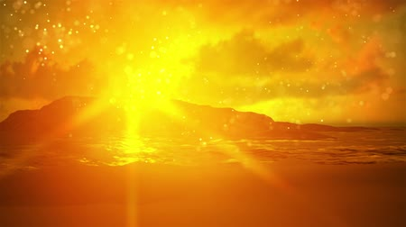 океаны : Summer background with sun rays and waves