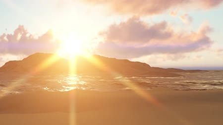 oceanos : Summer background with sun rays and waves