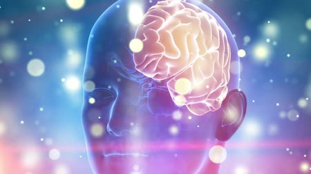 consciência : Human brain medical cyber background Vídeos