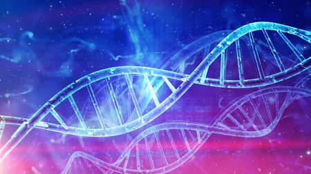 mikroszkopikus : Abstract medical genetics DNA background Stock mozgókép