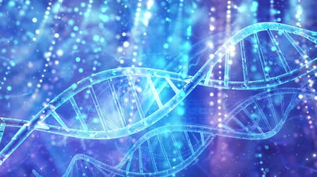 клон : Abstract medical genetics DNA background Стоковые видеозаписи