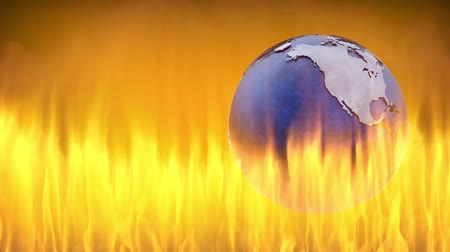 catástrofe : Earth on fire.Environmental disasters social outreach