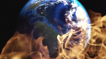 ecologici colori : Earth on fire.Environmental disasters social outreach