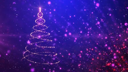 merry christmas card : Blue Christmas tree sparkles background