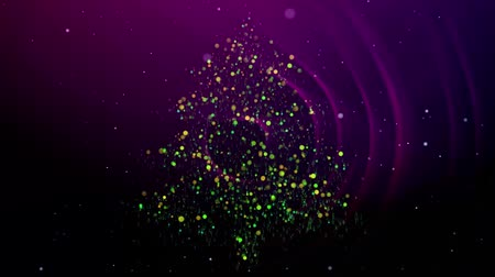 Merry Christmas tree particles background