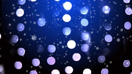 Abstract blue silver winter holidays bokeh background