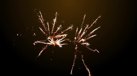 Happy New Year golden fireworks background