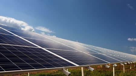 photovoltaic : Photovoltaic cells. Electricity by solar panels Stock Footage