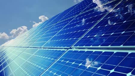 Photovoltaic cells. Electricity by solar panels Wideo