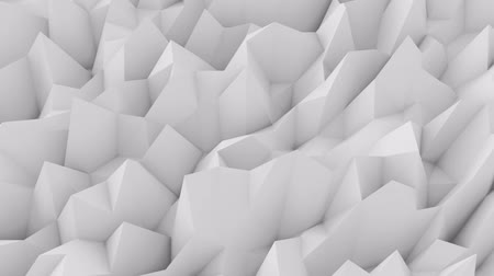 Low-poly white wall, abstract background. 3d rendering.