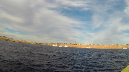 view from motorboat at sharm el sheikh Stock Footage