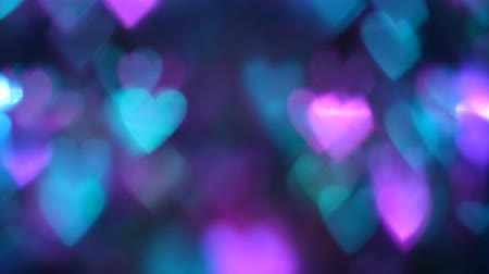 romsvetnik : Hearts Background for Valentines Day or Weddings Day. Glittering bokeh lights. Love concept.