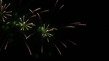 consecutivo : Colorful fireworks at holiday night background