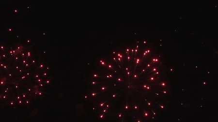 consecutivo : Colorful fireworks in the sky in slow motion