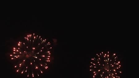 consecutivo : Real Fireworks in the night sky. Slow motion.