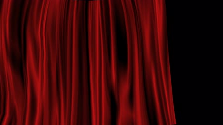 canal : Red Curtain with Alpha Channel Stock Footage