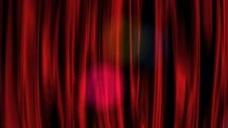 színpad : Red Curtain with Alpha Channel Stock mozgókép