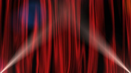 stage theater : Red Curtain with Alpha Channel Stock Footage