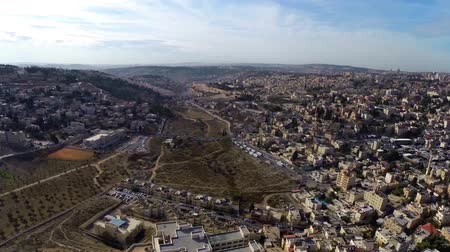 jerozolima : Jerusalem flight  Beautiful video flying over Jerusalem and the old city  Wideo