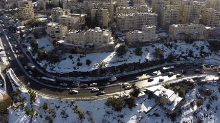 jerozolima : Jerusalem roads in the snow Wideo
