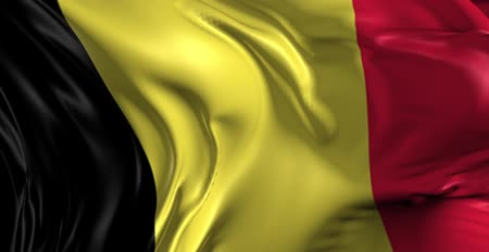 bélgica : Flag of Belgium Beautiful 3d animation of the Belgium in loop mode