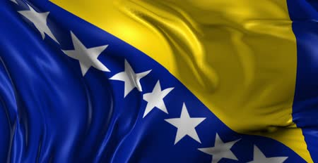 bandeira : Flag of Bosnia and Herzegovina Beautiful 3d animation of the Bosnia and Herzegovina flag in loop mode Vídeos