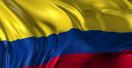 kolombiya : Flag of Colombia Beautiful 3d animation of Colombia flag in loop mode