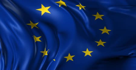 avrupa birliği : Flag of the European Union  Beautiful 3d animation of the European flag in loop mode Stok Video