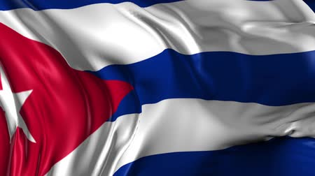 kuba : Flag of Cuba Beautiful 3d animation of Cuba flag in loop mode Stock mozgókép