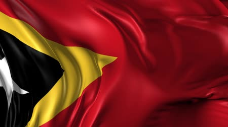 east timor : Flag of East Timor Beautiful   3d animation of East Timor flag in loop mode Stock Footage