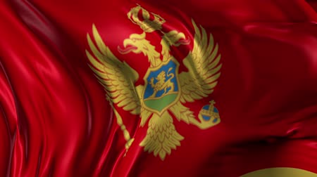 Черногория : Flag of Montenegro Beautiful 3d animation of the Montenegro flag in loop mode