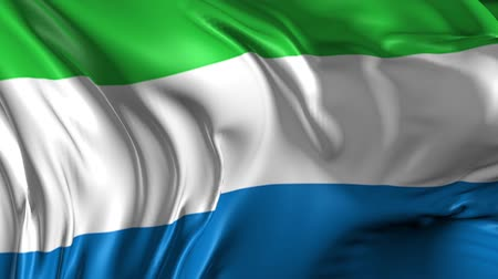 sierra leone flag : Flag of Sierra Leone Beautiful 3d animation of Sierra Leone flag in loop mode