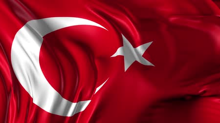 turecko : Flag of Turkey Beautiful   3d animation of Turkey flag in loop mode