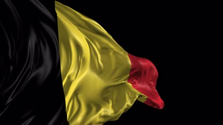 bélgica : Flag of Belgium Beautiful 3d animation of the Belgium with alpha channel