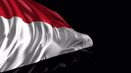 yemen : Flag of Yemen Beautiful   3d animation of Yemen flag with alpha channel