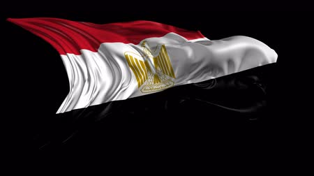 egyiptom : Flag of Egypt Beautiful   3d animation of Egypt flag with alpha channel in 4k resolution