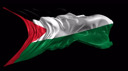 filistin : Flag of Palestine  Beautiful 3d animation of Palestine flag with alpha channel in 4k resolution