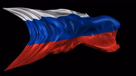 rusya : Flag of Russia  Beautiful 3d animation of The Russia flag with alpha channel in 4k resolution