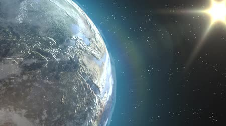 globalização : Earth view Beautiful animation of the Earth from outer space Stock Footage